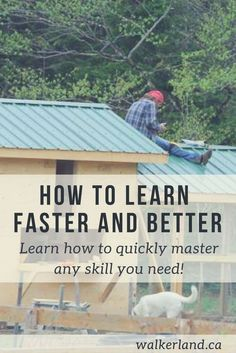 Learn faster and better by applying simple and effective techniques. Change how you learn and quickly master any skill you need.