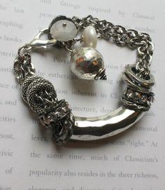 sterling silver hammered ball bangle bracelet