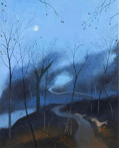 On the Road Back from Cerne Abbas Oil on canvas, 30x24ins Nicholas Hely Hutchinson