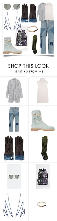"""Open Knit Sweater..**"" by yagna on Polyvore featuring Line, Equipment, Marc by Marc Jacobs, Alexandre Vauthier, Dsquared2, KTZ, Le Specs, State, Khai Khai and Nora Kogan"