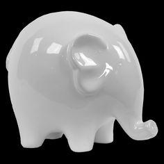 Urban Trends White Ceramic Elephant - 46613