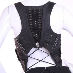 full metal vest by jungle tribe Dystopian Fashion, Cyberpunk Fashion, Vest Outfits, Cool Outfits, Goth Style, My Style, Warrior Fashion, Fashion Clothes, Fashion Outfits