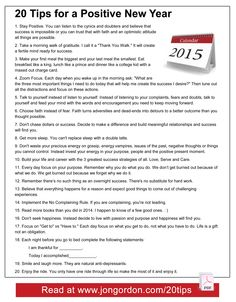 20 Tips for a Positive New Year (for 2015) from Jon Gordon