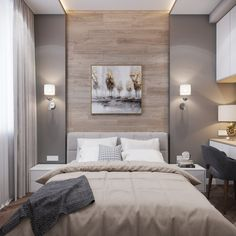 Minimalist Bedroom Decor Ideas that are Not Too much but Just Enough « Hotel Room Design, Modern Bedroom Design, Master Bedroom Design, Home Decor Bedroom, Bedroom Wall, Interior Livingroom, Kitchen Interior, Master Suite, Kids Bedroom