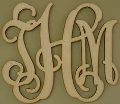 My dad makes these. Single or 3 letter monograms.  Unfinished wood. www.3dle.com or http://www.facebook.com/pages/3D-Laser-Engraving/462224425160