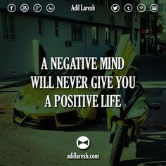 A negative mind will never give you a positive life.  #motivation #quotes #quote #positive #life #mind #billionaire #entrepreneur