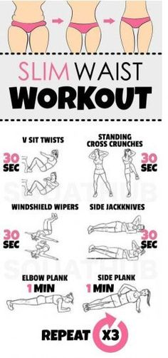 Slim Waist Workout That Gives You A Hourglass Figure (Fitness Workouts Waist) Slim Waist Workout, Ripped Workout, Reduce Weight, Lose Weight, Weight Loss, Lose Fat, Toning Workouts, At Home Workouts, Ab Exercises