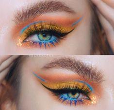 Bright Eye Makeup, Eye Makeup Art, Glam Makeup, Pretty Makeup, Eyeshadow Makeup, Makeup Cosmetics, Beauty Makeup, Ysl Beauty, Makeup Eyes