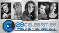 List of Celebrities Who Died In OCTOBER 2018 Celebrity Deaths, Celebrity List, Latest Celebrity News, Celebrity Names, Celebrities Who Died, Young Celebrities, Celebs, Thanks For The Memories, Piano Music