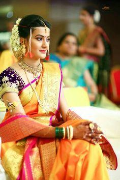 Indian Wedding Makeup By Deepal Haria Marathi Bride, Marathi Wedding, Wedding Sari, Desi Wedding, Indian Wedding Outfits, Wedding Bride, Bridal Photoshoot, Groom Outfit, Groom Wear