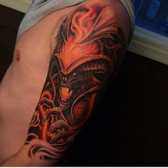 Amazing Balrog tattoo by the very talented travis greenough