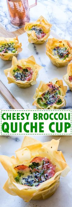 Ham Cheese And Broccoli Quiche Cups, very fancy looking yet super easy to make!