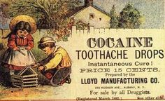 toothache drops with cocaine (1885)