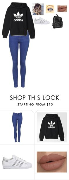 """lazy day in school"" by directioner-873 on Polyvore featuring Topshop and adidas"