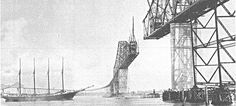 Construction of the Cooper River Bridge, 1929; Charleston County Library