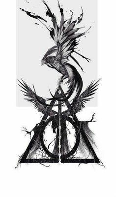 Drawing harry potter phoenix ideas for 2019 - phoenix tattoo Phoenix Harry Potter, Arte Do Harry Potter, Images Harry Potter, Harry Potter Drawings, Small Harry Potter Tattoos, Small Tattoos Men, Tattoo Small, Cool Little Tattoos, Hp Tattoo