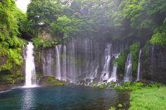 Shiraito Falls in Shikuoka Prefecture. Image by Zengame