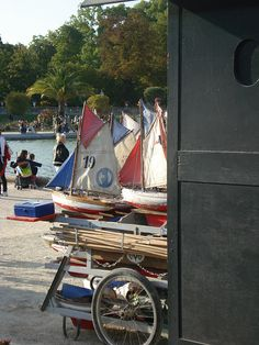 Little boats at Luxembourg gardens, paris