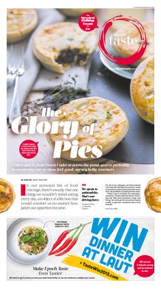 These Are the Savory Pies You've Been Missing Out On|Epoch Taste #Food #newspaper #editorialdesign