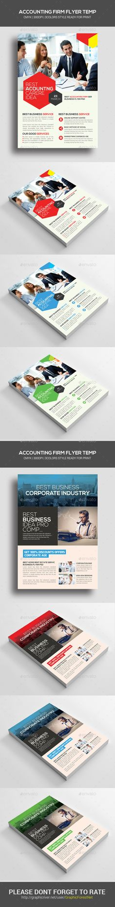 Flyer restaurant flyer template restaurants and template accounting and finance flyers bundle pronofoot35fo Gallery