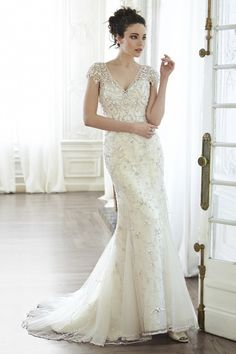 Glam beading: http://www.stylemepretty.com/2015/02/16/maggie-sottero-spring-2015-collections/