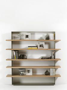 Dimensions: x x Material: Metal, solid wood. Finish: Frame in natural sanded iron or RAL standard lacquer colors. Shelves in solid oak or walnut wood. Wall Mounted Bookshelves, Wooden Bookcase, Bookcase Storage, Bookcase Shelves, Shelving, Shelf, Bookcases, Living Room Storage, Home Living Room