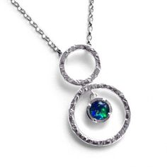 SIERRA CIRCLES PENDANT WITH GEMSTONE