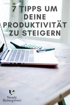 Tipps um deine Produktivität zu steigern