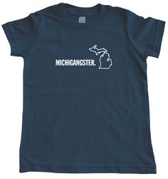 Kids Michigangster T-Shirt. High quality print on ultra-perfect American Apparel t-shirt! #michiganawesome