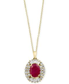 Amoré by EFFY® Certified Ruby (1-3/8 ct. t.w.) and Diamond (1/2 ct. t.w.)…