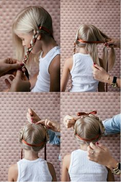 Cute girls hairstyle.