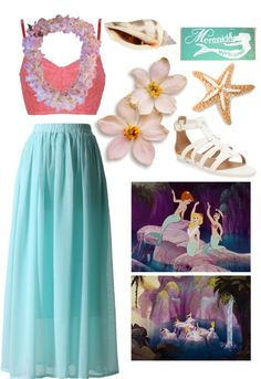"""Outfit 86: Lost Girls In Mermaid Lagoon"" by red-head426 ❤ liked on Polyvore"