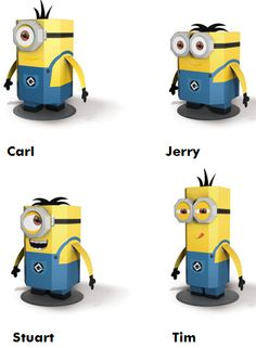 Despicable Me 2 - Minions Papercraft | Papercraft Paradise | PaperCrafts | Paper Models | Card Models