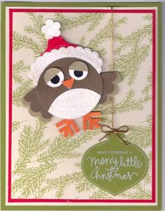 Christmas Owl by NotGonnaGetHooked - Cards and Paper Crafts at Splitcoaststampers