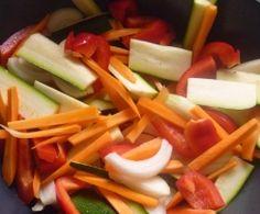 Honig-Sesam-Hähnchen mit Gemüse und Reis - all in one, kalorienarm! Rezept des Tages am 2.3.2015