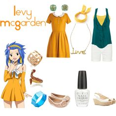 """Levy McGarden"" by casualanime on Polyvore"