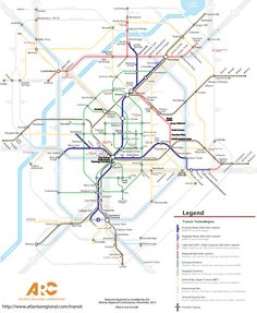 MARTA Fantasy Subway System Expansion Transit Map Unofficial