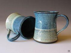 Ombre Pottery Mug  Stoneware Mug  Coffee Cup  Tea by DragonflyArts, $24.00