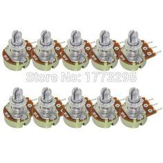 10 Pcs chất lượng cao WH148 B10K tuyến tính chiết Pot duy nhất doanh 1 K 2 k 5 K 10 k 20 k 50 k 100 k 250 k 500 k 1 m 500 ohm cho Arduino
