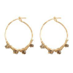 Rough diamond hoops (Stephanie Jewels) shop them on Les trouvailles d'Elsa.fr