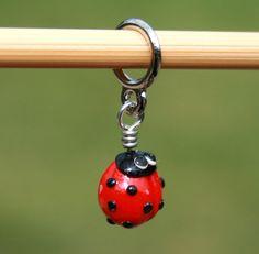 $12 Ladybug stitch markers