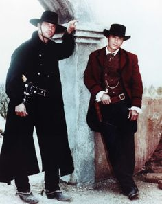 The Magnificent Seven -- Chris Larabee (Michael Biehn) and Ezra Standish (Anthony Starke)
