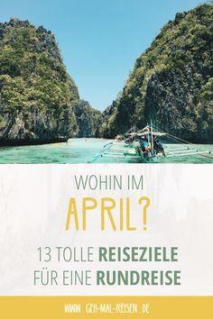 Wohin solltest du im April reisen? Mit unserer praktischen Karte findest du es heraus! Wir verraten dir, wo es im April schon warm ist, wo Hochsaison und wo Nebensaison ist und welche coolen Aktivitäten du im jeweiligen Land unternehmen kannst. Natürlich zeigen wir dir auch besonders günstige Reiseziele. Schau vorbei und entdecke die besten Ziele für deinen Urlaub im April! #reise #april#urlaub #gehmalreisen #reisetipps #reiseziele