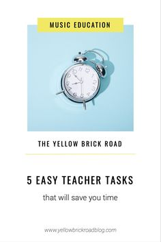 Learn five super easy tasks that will save you time each day.