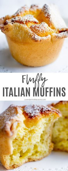 Soffioni Abruzzesi (Sweet Ricotta Pastries) - If you& looking to take your regular muffins up a notch, try these fluffy Italian muffins. Italian Pastries, Italian Desserts, Köstliche Desserts, Delicious Desserts, Yummy Food, French Pastries, Italian Cupcakes, Italian Cookies, Plated Desserts