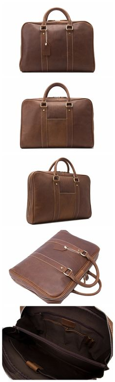 343f1396eda8 Handcrafted Full Grain Genuine Leather Business Briefcase Men Messenger Bag  fit 15   Laptop D007