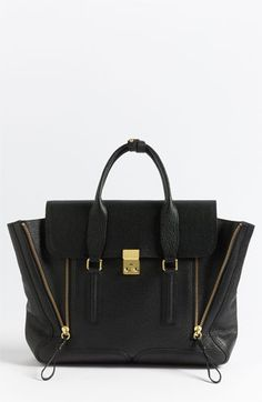 3.1 Phillip Lim 'Pashli' Leather Satchel Black