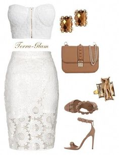 A fashion look from June 2015 featuring white crop tops, summer skirts and nude sandals. Browse and shop related looks. Lila Outfits, Night Outfits, Classy Outfits, Chic Outfits, Sexy Outfits, Clubbing Outfits Nightclub, Hot Pink Dresses, Mode Vintage, Elegant Outfit
