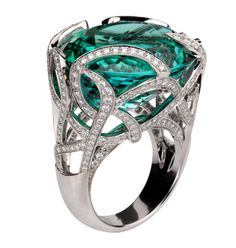 Emerald & diamond Ring, Van Clef and Arpel