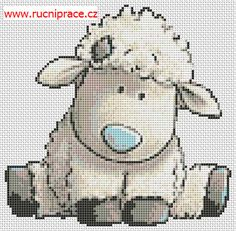 Cross Stitch Charts Lamb, free cross stitch patterns and charts - www. Sheep Cross Stitch, Baby Cross Stitch Patterns, Cross Stitch Pattern Maker, Cross Stitch Cards, Cross Stitch Animals, Cross Stitch Designs, Cross Stitching, Cross Stitch Embroidery, Cross Stitch For Baby
